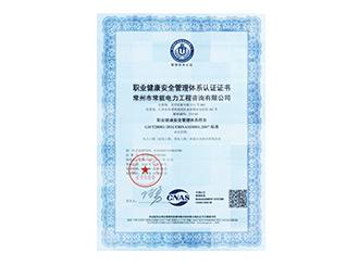 职业健康案例管理体系认证
