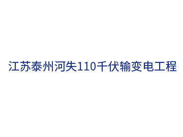 江苏泰州河失110千伏输变电工程
